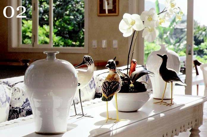 clarisse reade design de interiores living detalhes que fazem a diferença no décor objetos de decoração pássaros