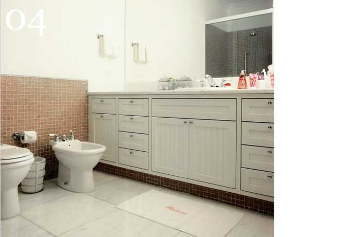 clarisse reade sala de banho pastilha terracota