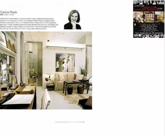 clarisse reade revista especial casa cor 2005