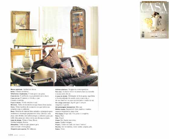 clarisse reade revista viver casa vogue março 1997