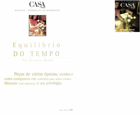 clarisse reade revista casa vogue especial 1996