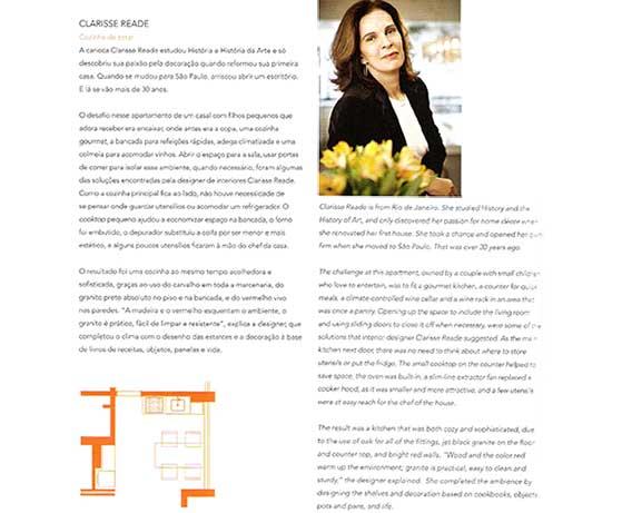 clarisse reade no livro design gourmet